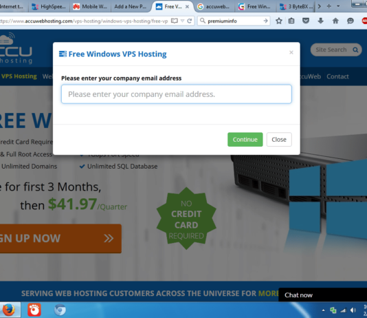 Free accuwebhosting Windows VPS Hosting