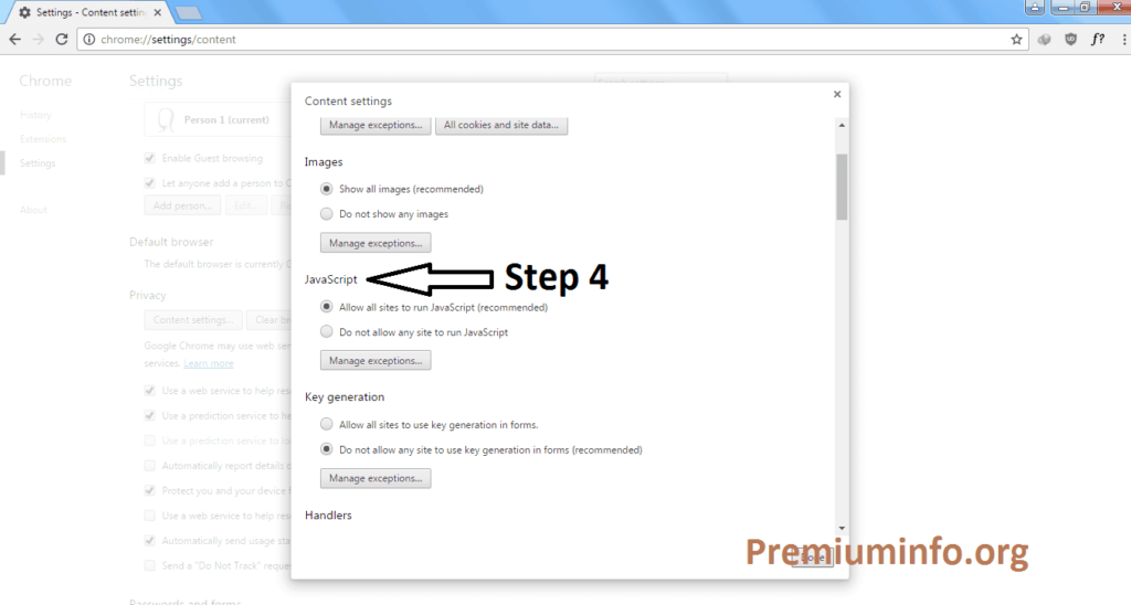 Enable or Disable JavaScript in Google Chrome To Avoid Ad Popup