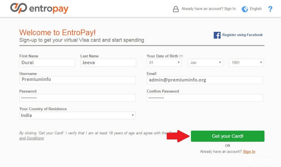 Entropay Review And Guide To Create and Charge Virtual Credit Card (VCC)