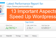 13 Important Aspects To Speed Up Wordpress Site
