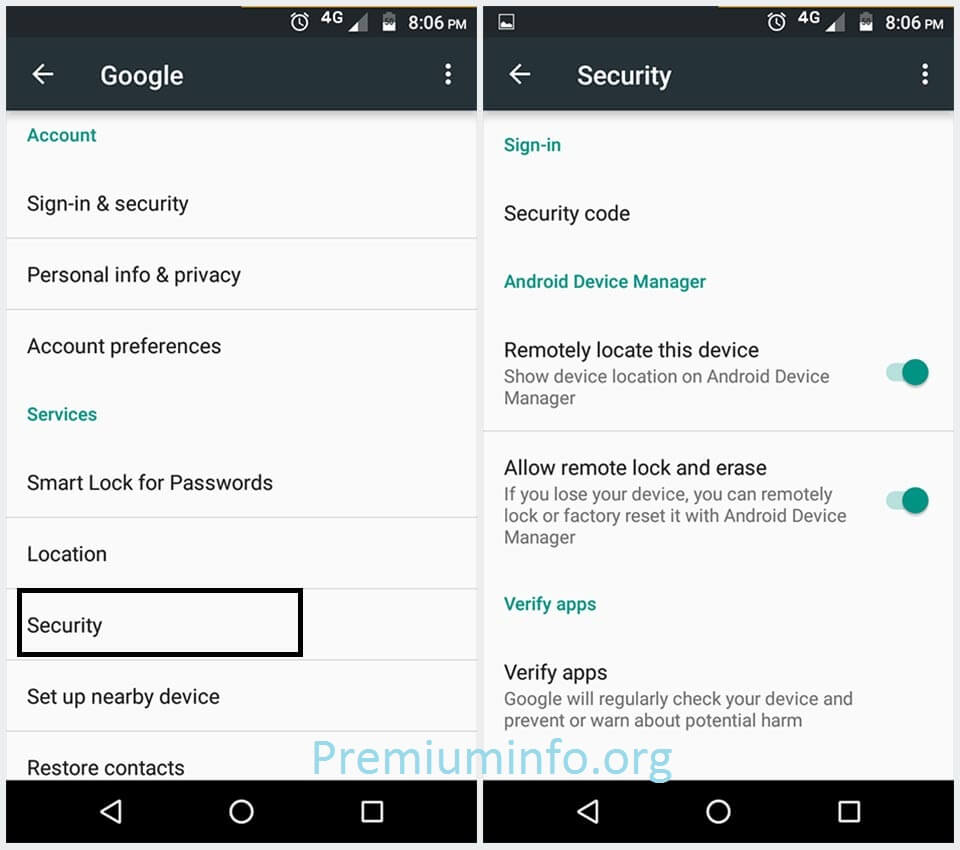 Track Android Mobile with Android Device Manager
