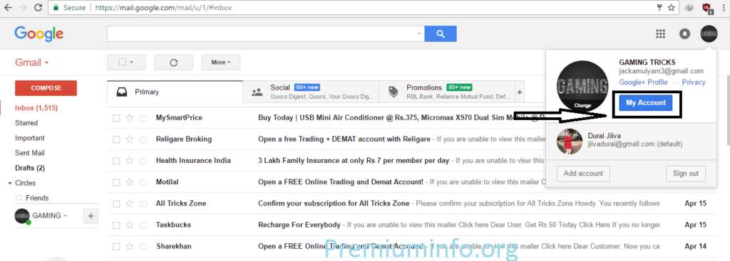Create Unlimited Gmail account with Just One Mobile Number: