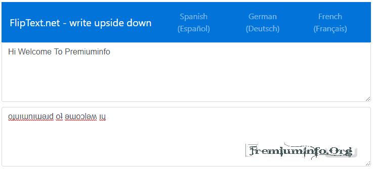 Type Words Upside Down