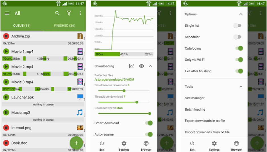 adm download manager for android