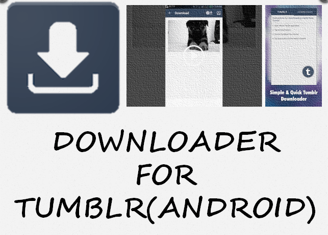 Downloader for Tumblr to download tumblr videos