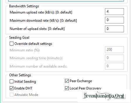 Change upload rate in torrent file