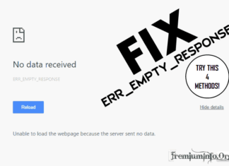 How to fix ERR_EMPTY_RESPONSE error on Google Chrome