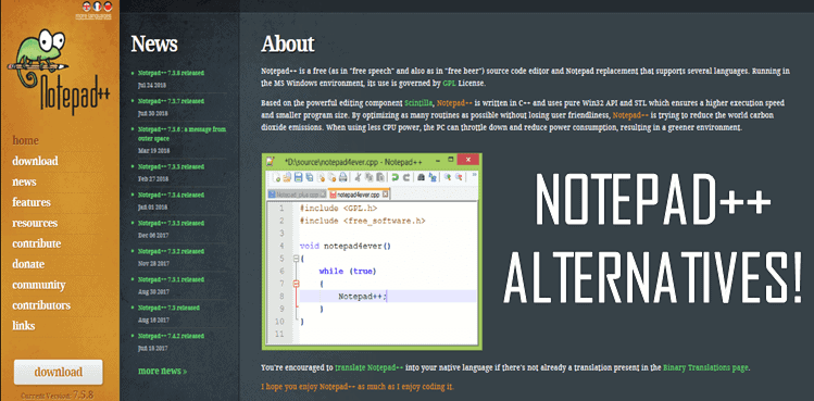 Top 10 Alternatives of Notepad++ For Mac OS - PremiumInfo