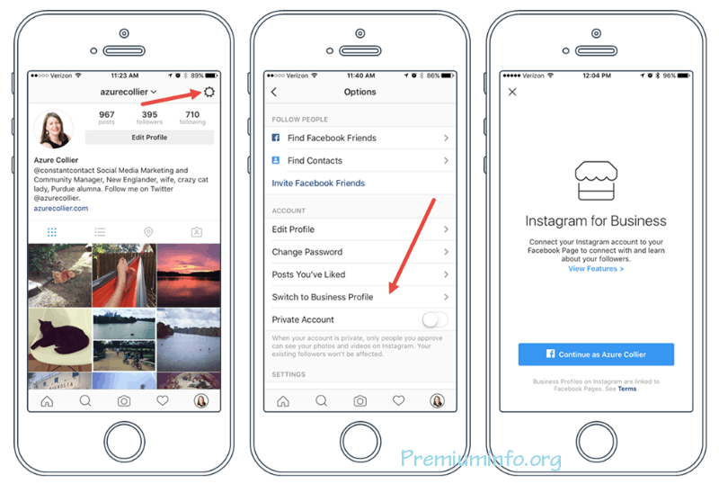 activate instagram business account