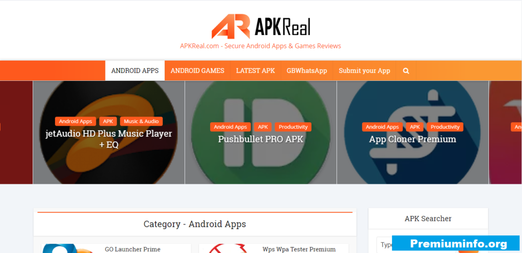 Apkreal Cracked APk site