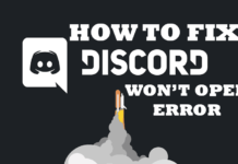 How to fix Discord won't open error