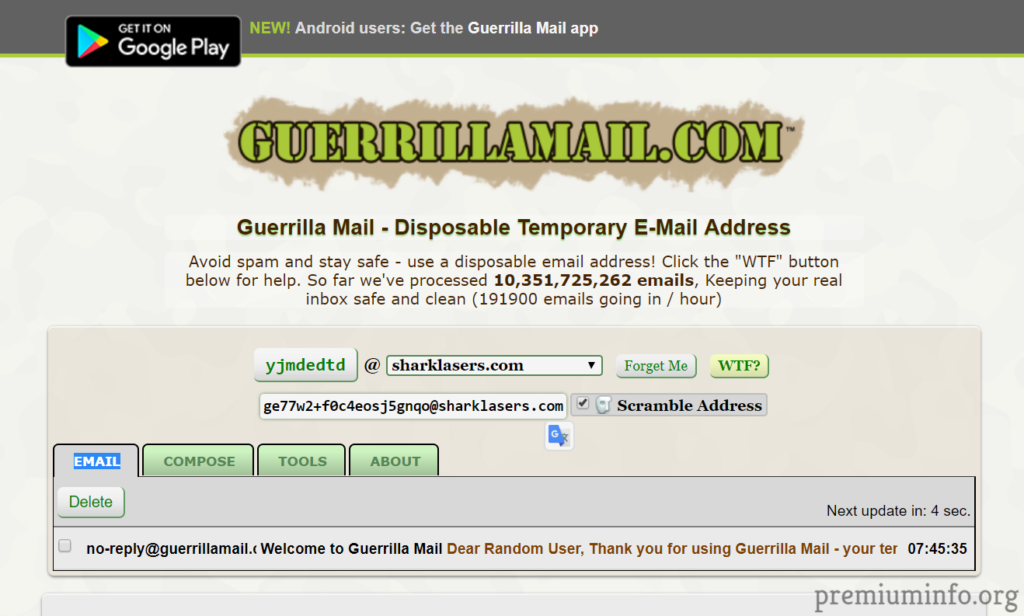 Top 7 Best Fake Email Generator Sites of 2019 - PremiumInfo