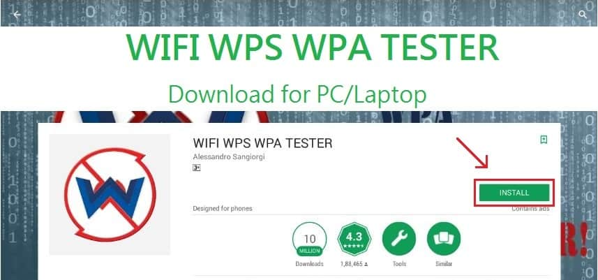 Download & Install WIFI WPS WPA Tester on PC -Windows & Mac
