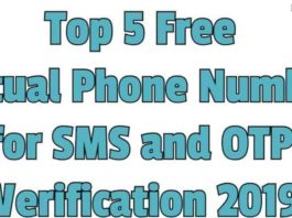 5 free virtual numbers for otp bypass