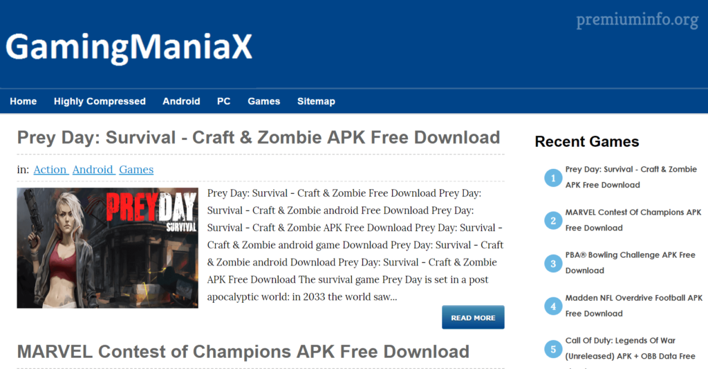 gamingmaniax highly compressed games