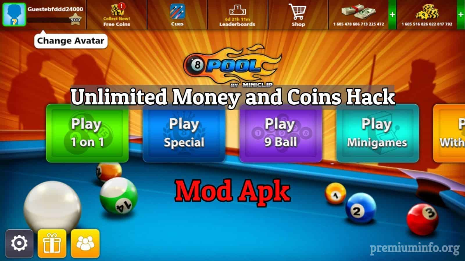 8 Ball Pool Mod Apk Download | Unlimited Money Trick | Coin
