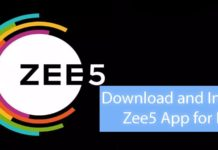 Zee5 app for windows