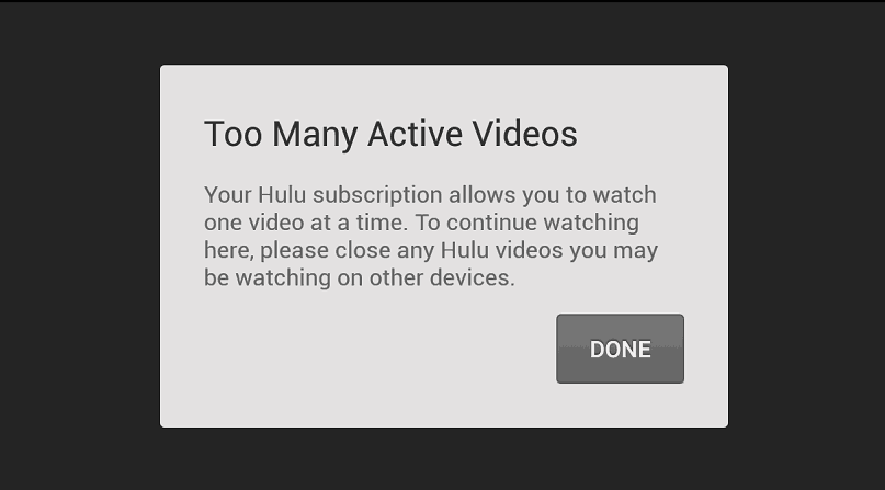 hulu too many error