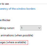 Ease to access option