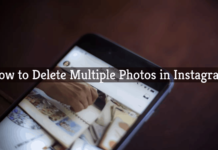 how to delete mutiple photos in instagram