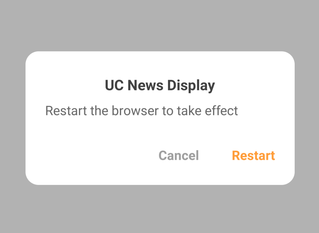 news disable uc browser