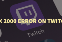 Fix 2000 Error on Twitch
