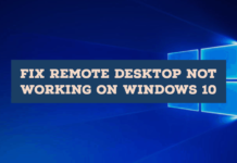 Fix Remote Desktop Not Working on Windows 10