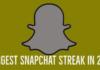 Longest Snapchat Streak in 2019