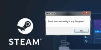 5 ways to fix steam must be running to play this game error