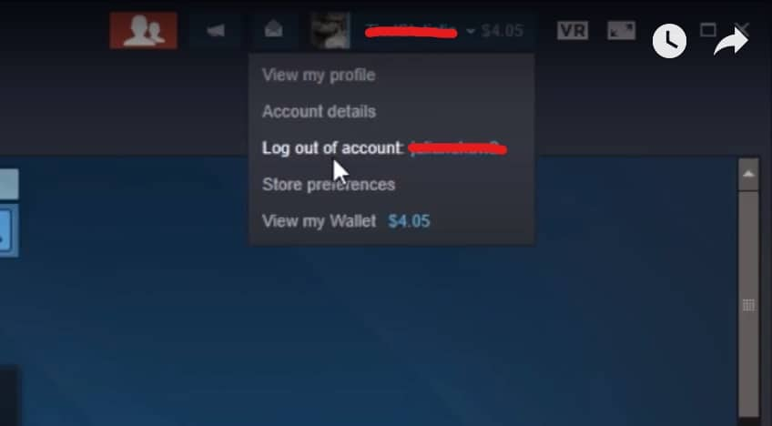 log out steam