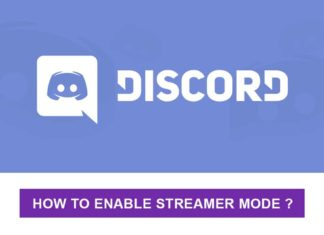 Enable discord streamer mode