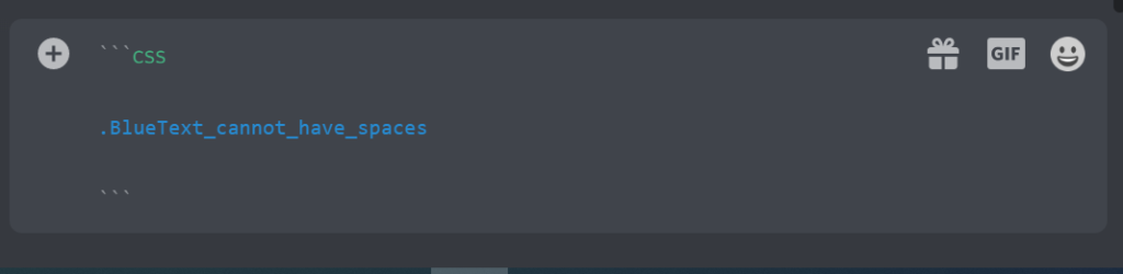Add Blue text in discord