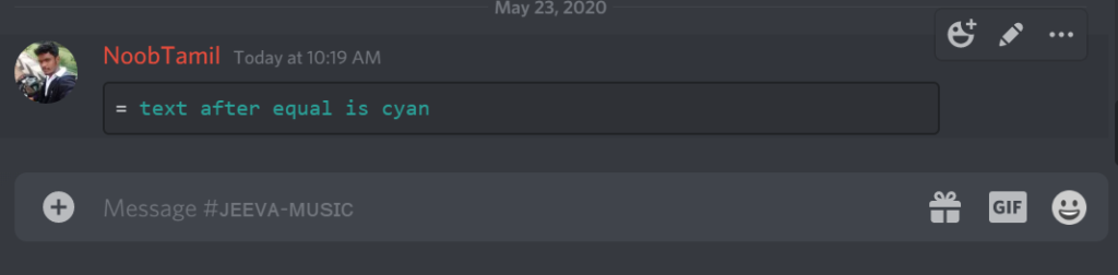 Add cyan Color in discord