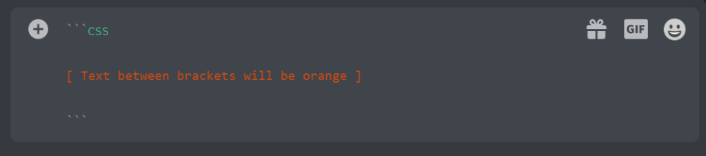 Create Orange text in discord
