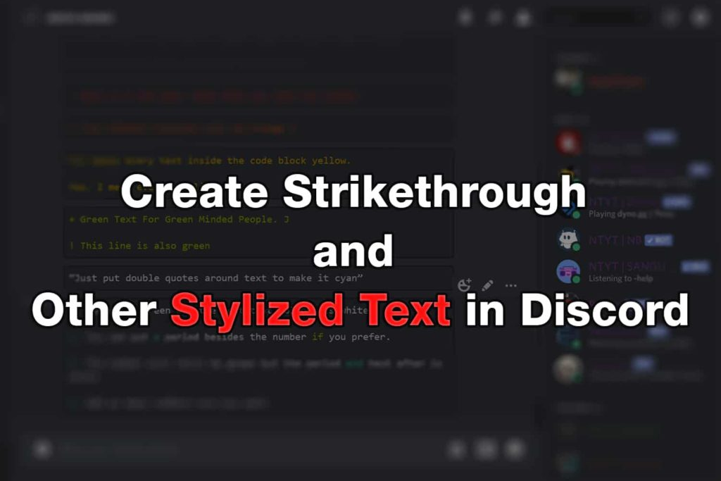 Discord Strikethrough