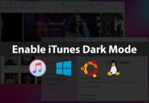 enable itunes dark mode windows 10