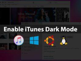 enable itunes dark mode windows 10