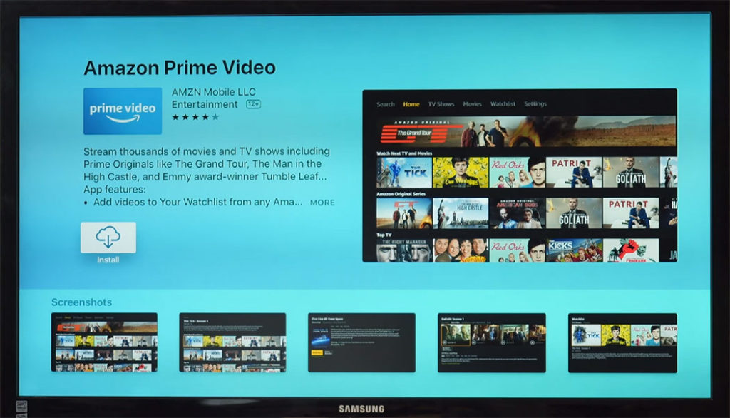 amazon prime video app apple tv