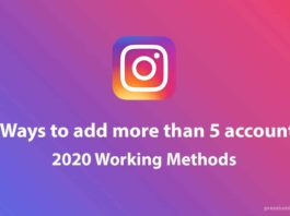add more than 5 accounts on instagram
