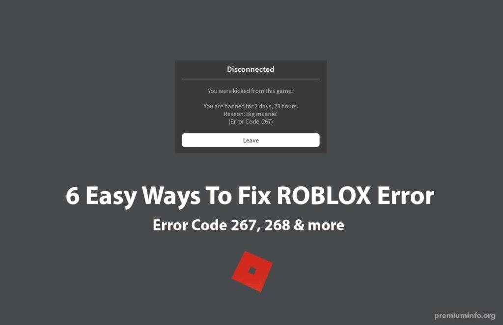 267 error code roblox