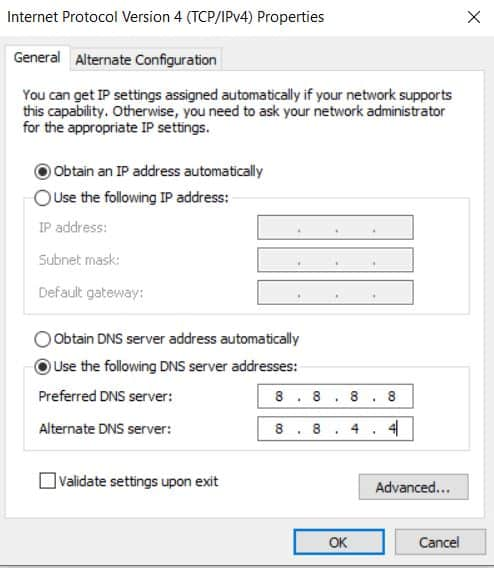 configuring dns server windows
